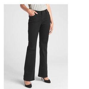 NWT Gap Mid Rise Long & Lean Jeans 29 Black v122